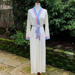 70's/80's Vanity Fair Silky Pastel Robe/Housecoat